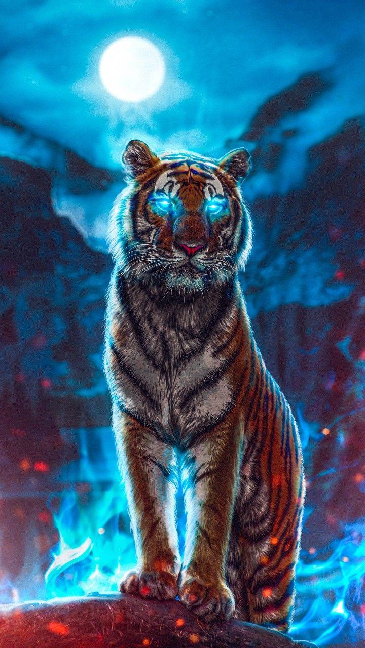 Wallpaper Tiger Tiger Wallpaper Tiger Artwork Tiger Spirit Animal
