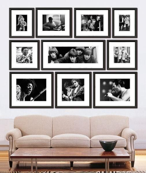 Rock and roll archive collection of black and white framed prints free shipping