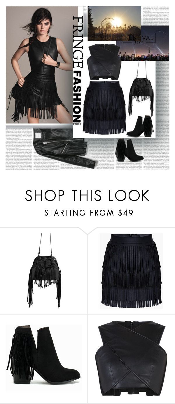 """Festival Trend Fringe"" by stylepersonal ❤ liked on Polyvore featuring MANGO, Nly Shoes, BCBGMAXAZRIA and fringe"