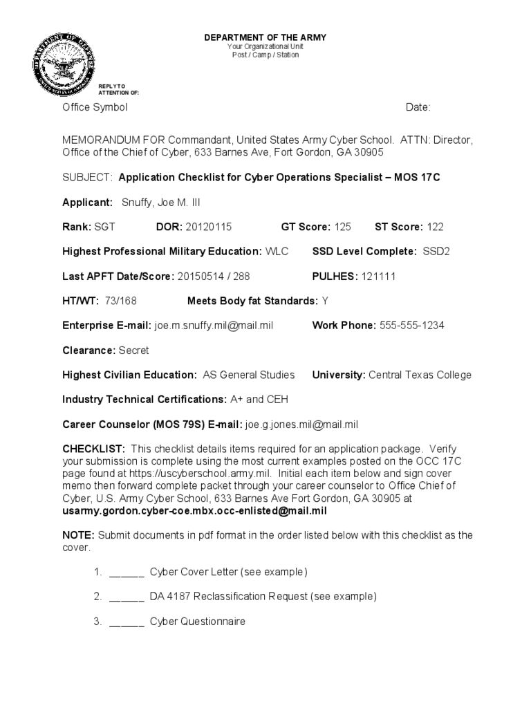Army Memo Template 1 Free Templates In Pdf Word Excel