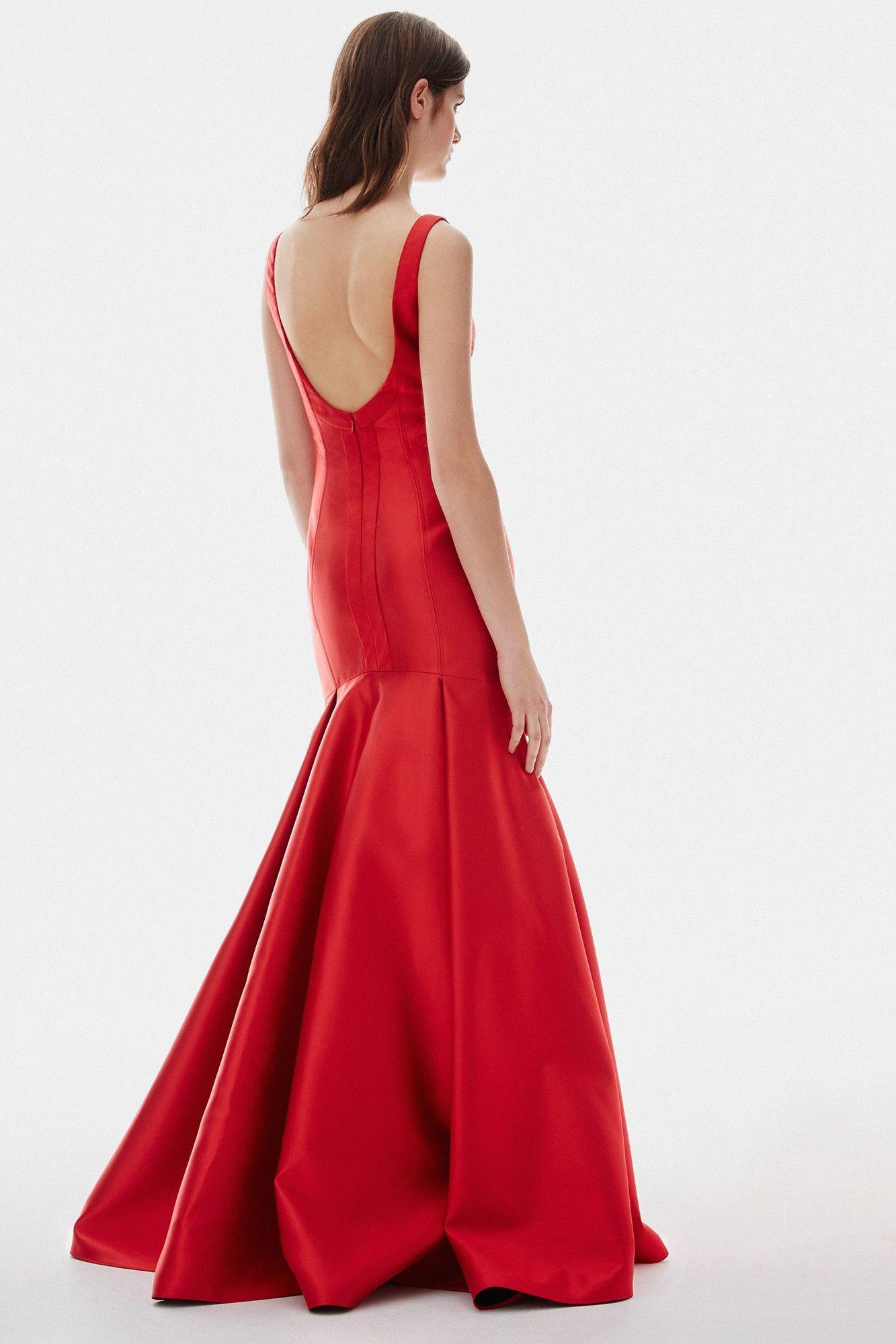 b1dd982466 Vestido rojo largo de corte sirena - cóctel