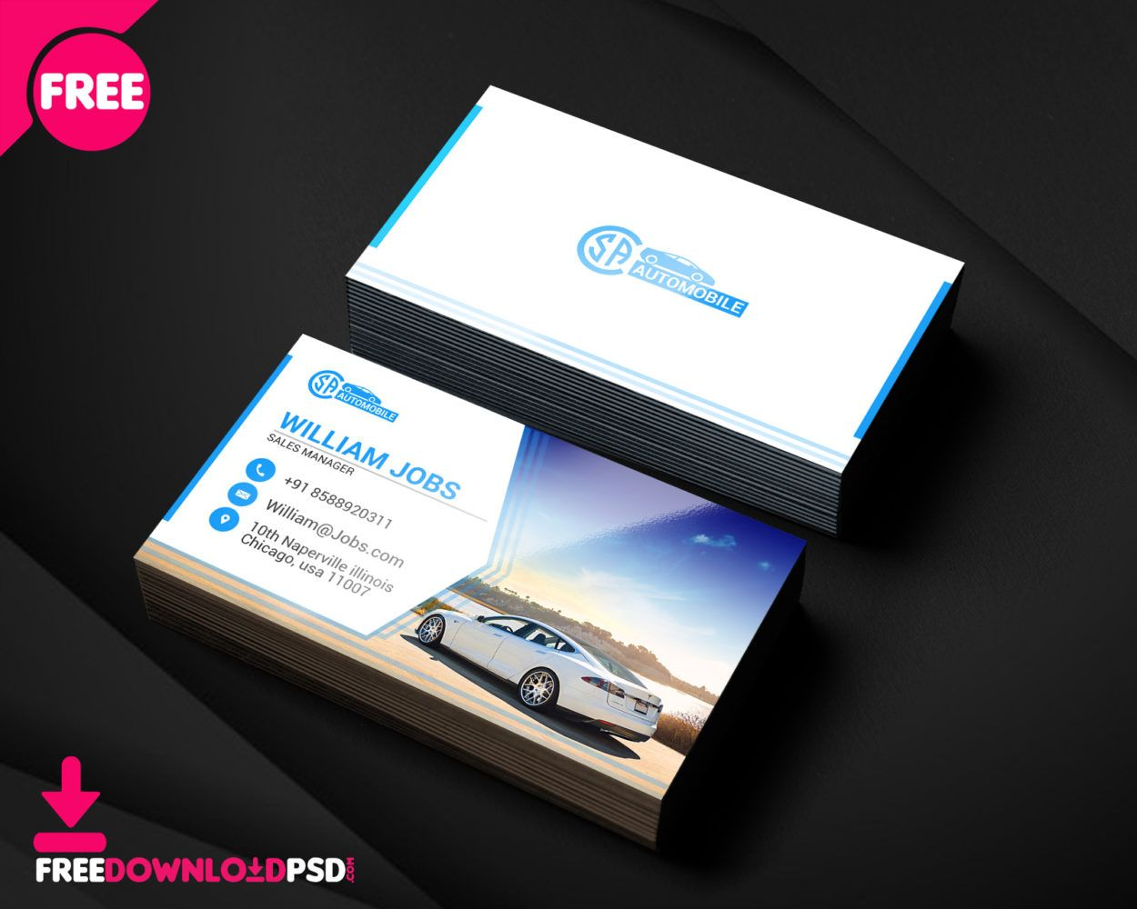 Automotive Business Cards PSD Visit Carte De Visite
