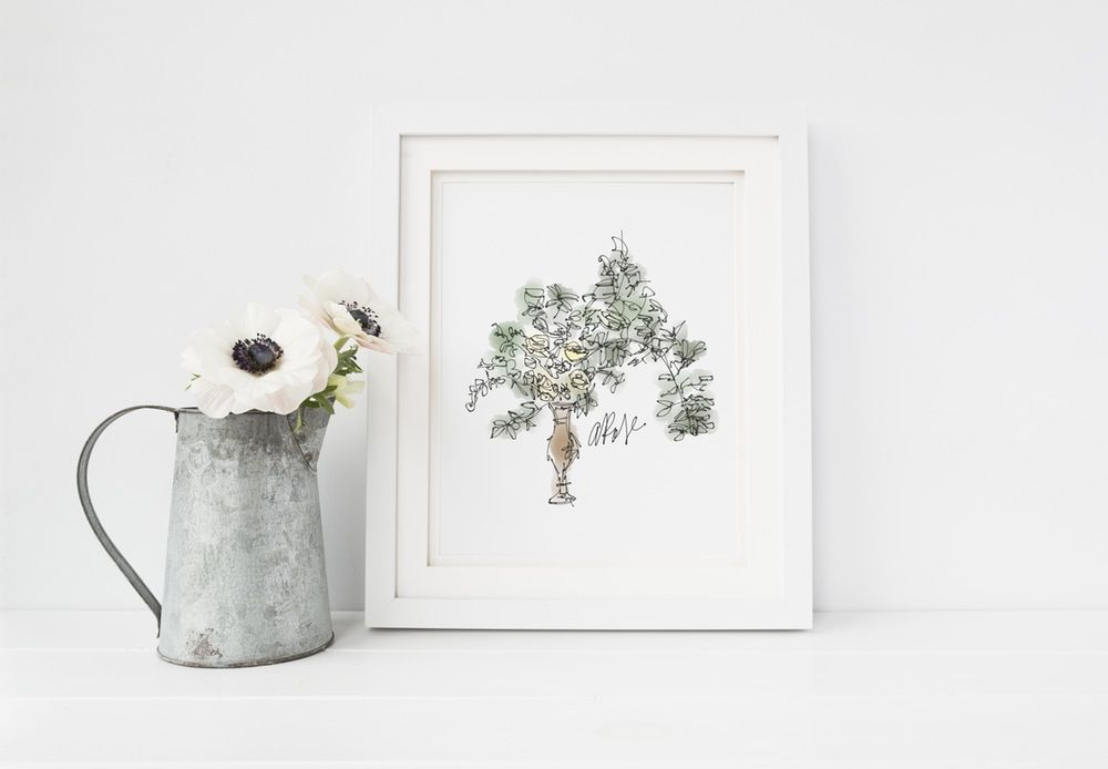 Image of Classic and Clean Bouquet Art Print