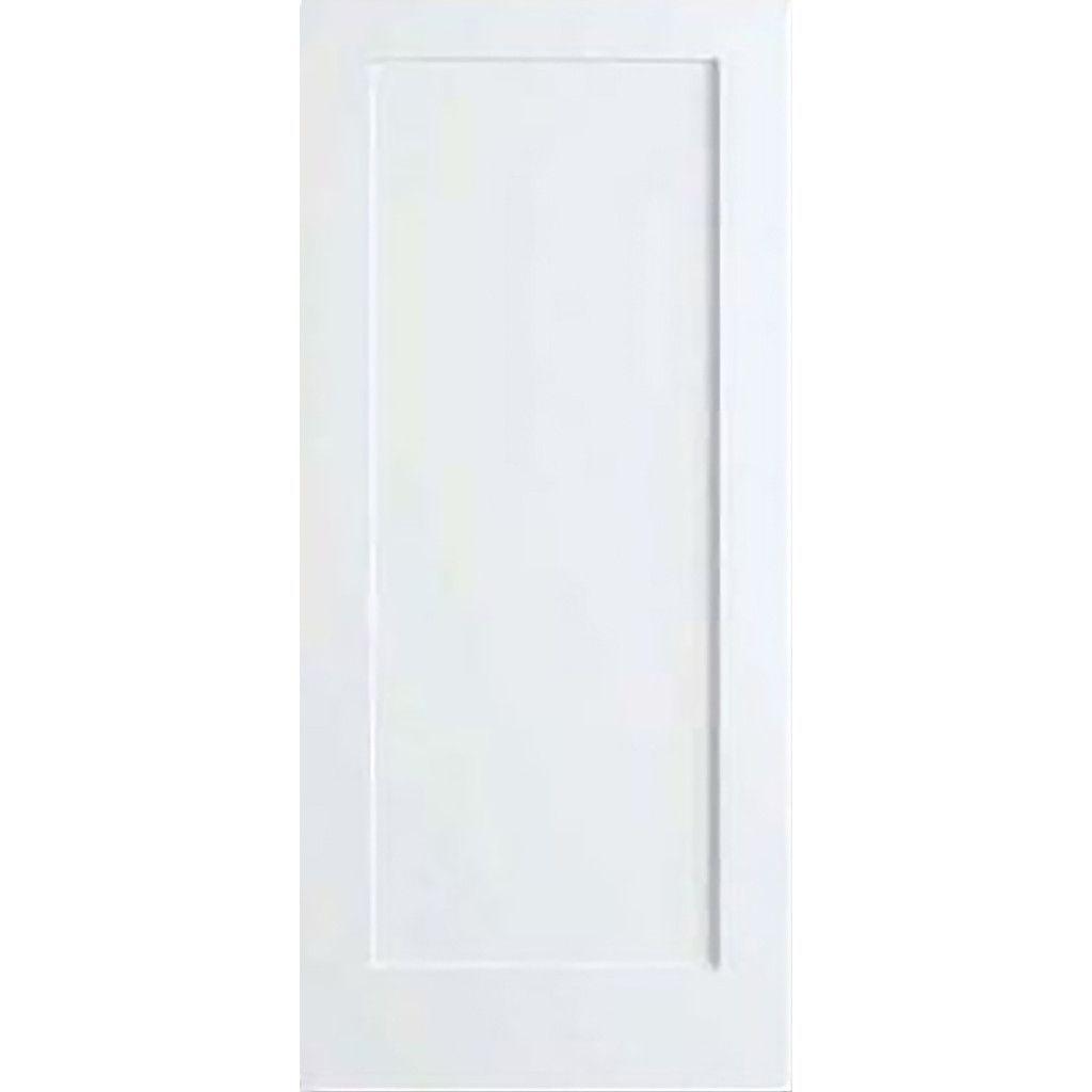 1 Panel Door Interior Slab Shaker White Solid Core Interior Doors Shaker Doors Wood Doors