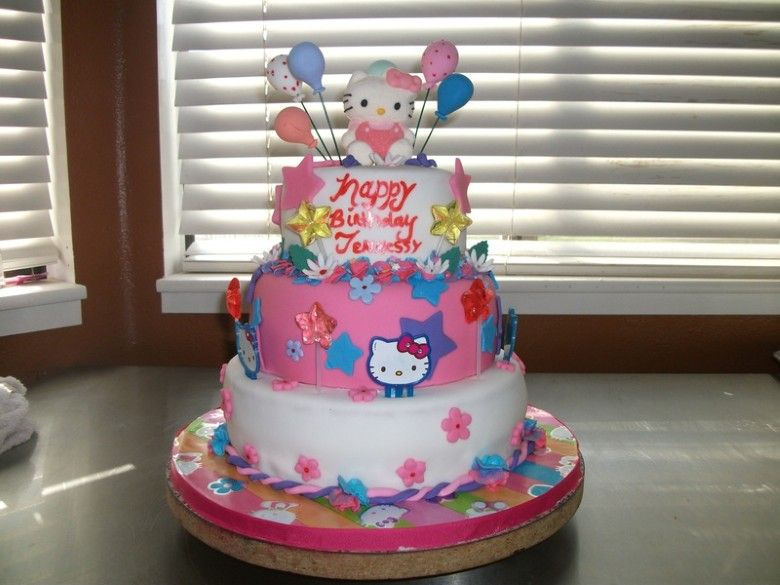 GIRLS BIRTHDAY CAKE DESIGNS FOR HELLO KITTY Hello Kitty Birthday