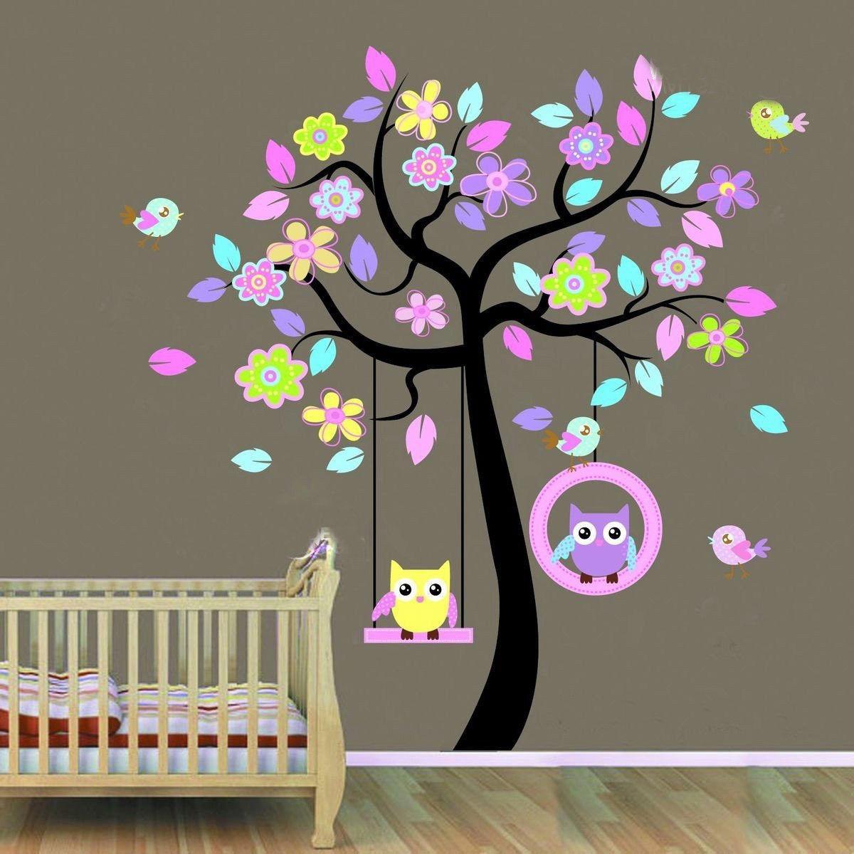 Decorative decals ebay home u garden flower tree art kids and owl