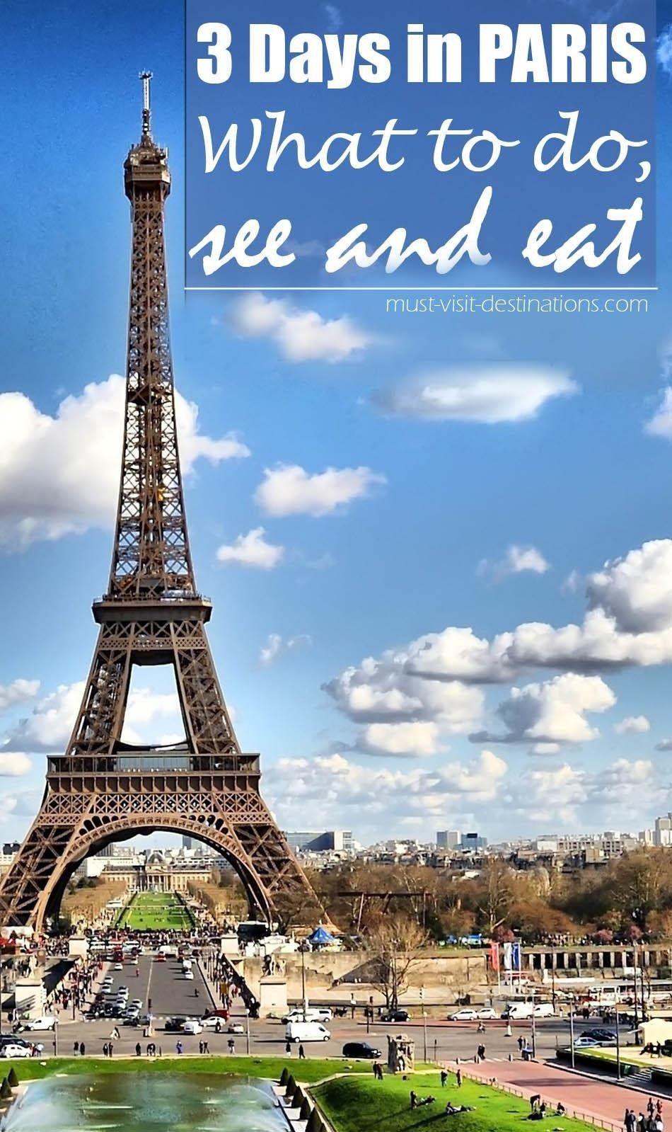 In Paris 3 Days Visit