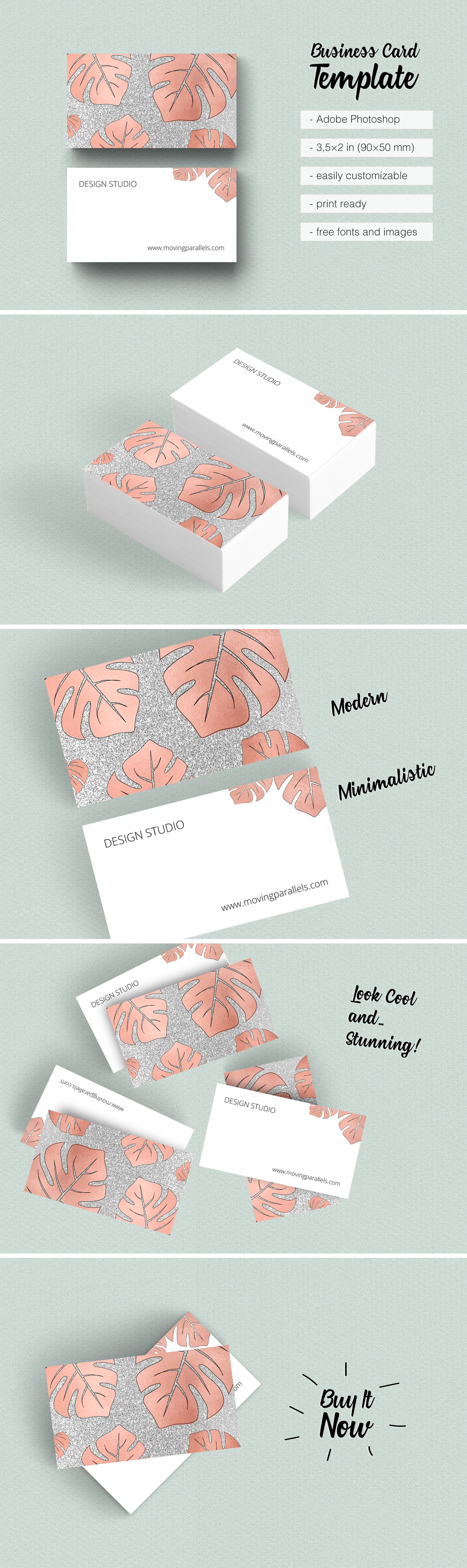 $8 Rose Gold Business Card @Etsy is classy, sophisticated and ...