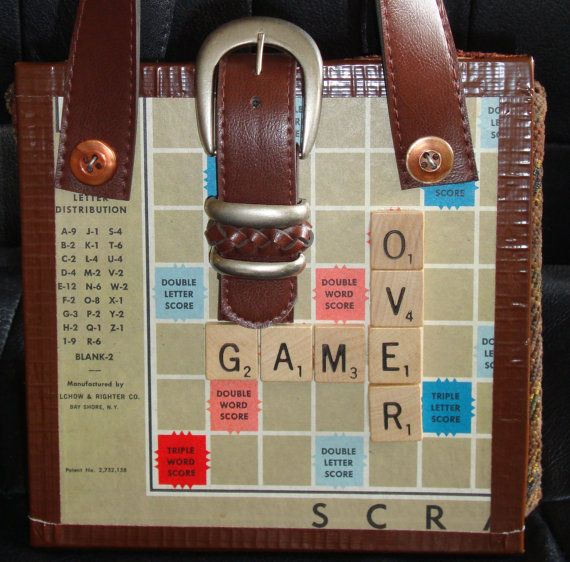 Upcycled Scrabble Game Purse
