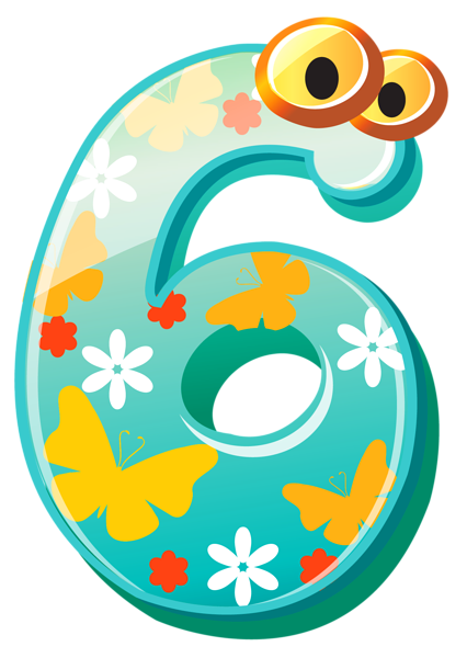 Cute Number Six Png Clipart Image Clip Art Free Clip Art Numbers For Kids