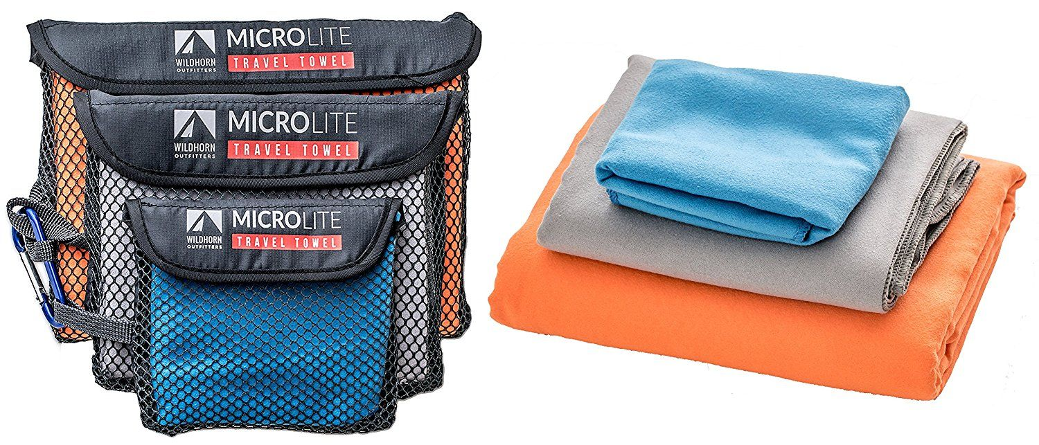 Amazon.com : Microlite Microfiber Travel / Camping Towel Bundle - Quick Dry Compact Towels - Extra Large, Large & Small : Sports & Outdoors
