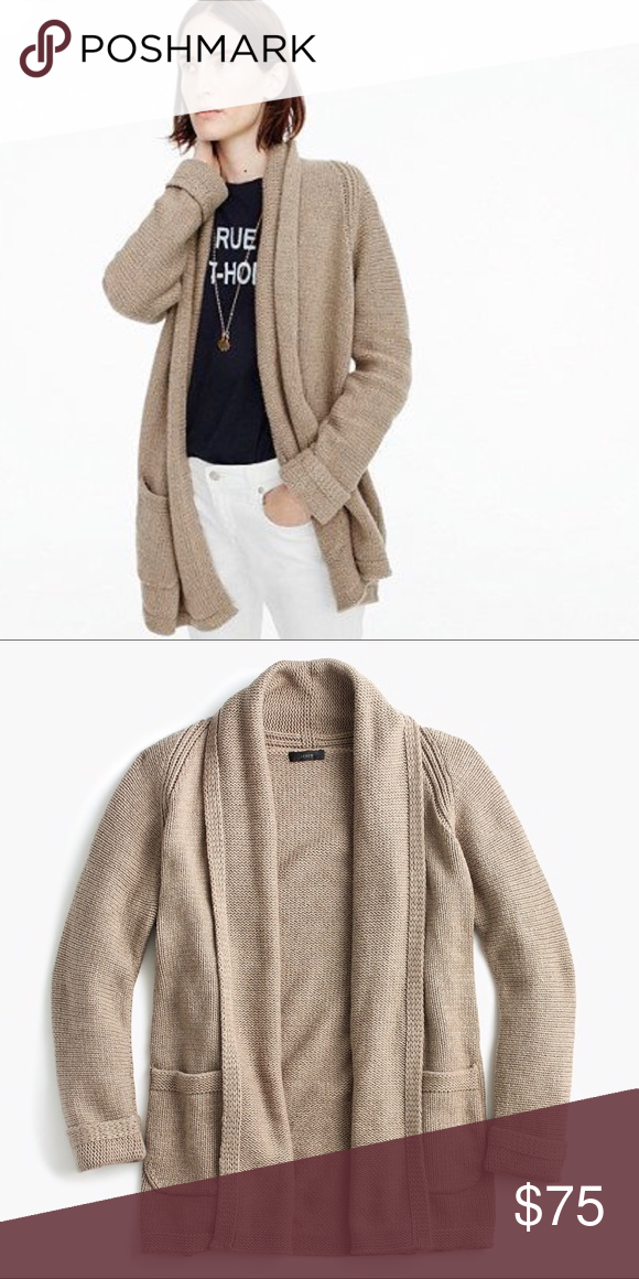 outlet online where to buy classic shoes NWT J.Crew Long Open Cardigan, Heather Sandstone Brand new with ...