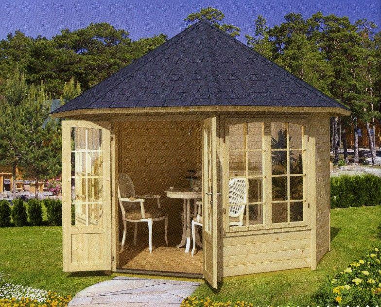Kiosco de madera 2 aguas buscar con google kiosko for Kioscos prefabricados de madera
