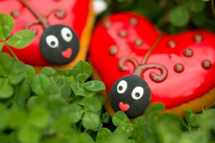 Luv bug donuts ladybug cookies christmas ornaments