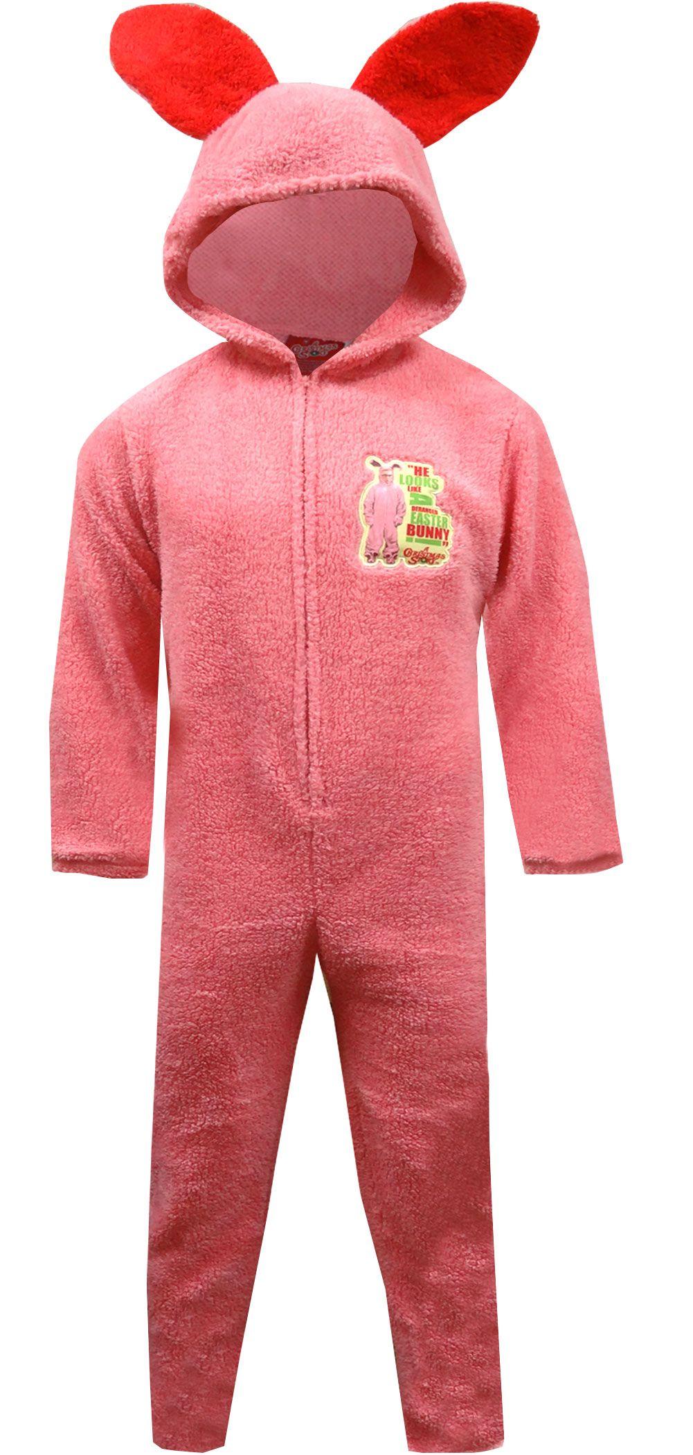 Unisex Pink Bunny Hooded Onesie Pajama | Onesie pajamas, Pyjamas ...