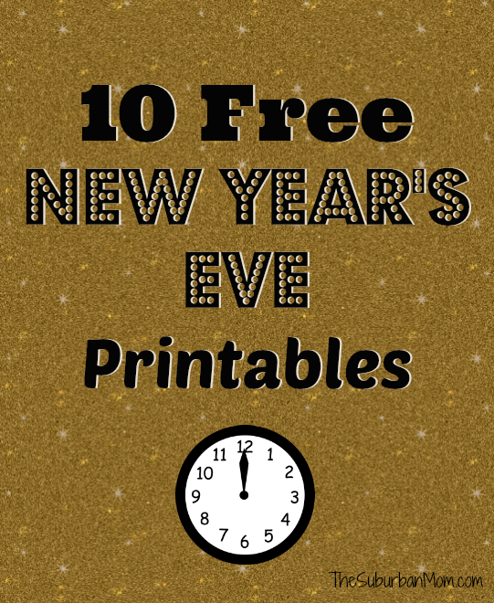 10 New Year's Eve Free Printables