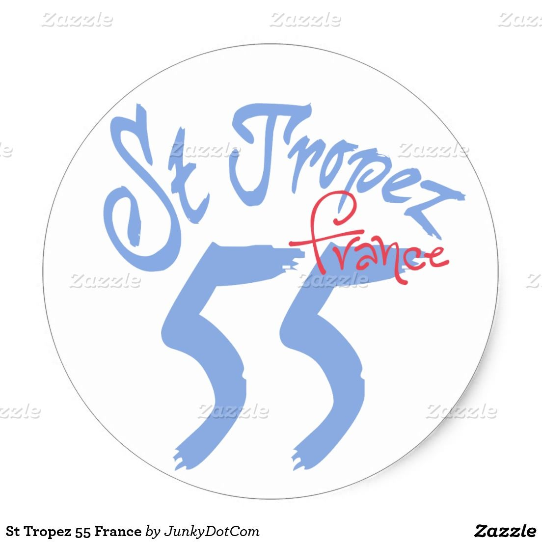 St Tropez 55 France Classic Round Sticker - Nov 7