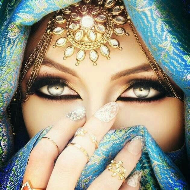 Inspiring Image Beauty Eyes Hijab Makeup Nails By