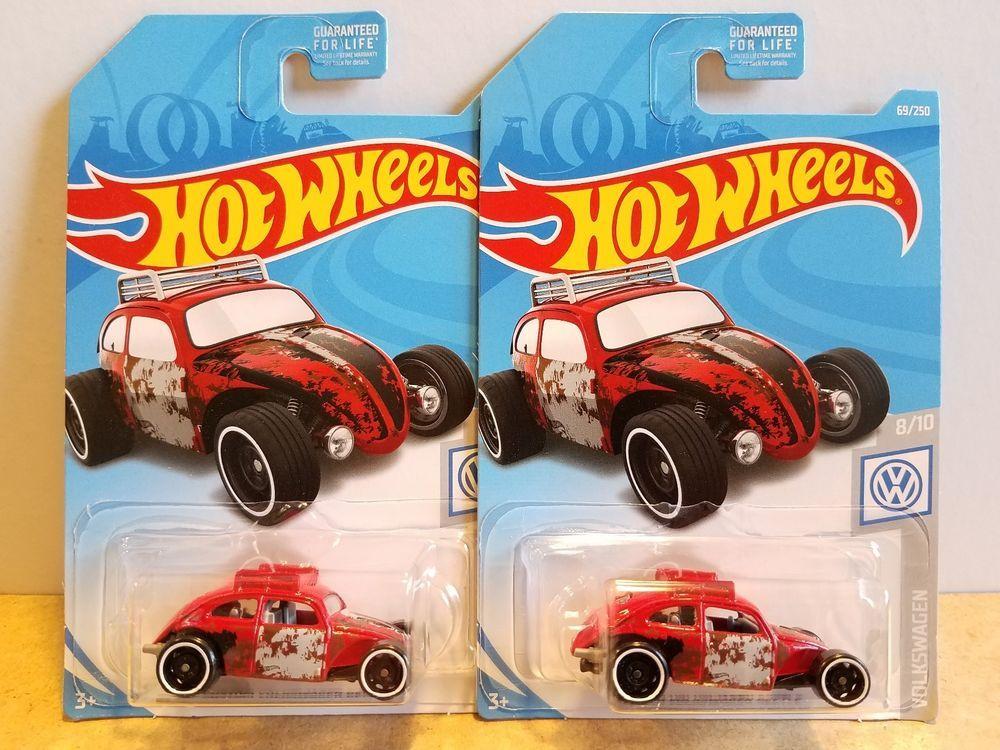 Custom Volkswagen Beetle 2019 Hot Wheels 69//250 VW Red Volkswagen Series 8//10
