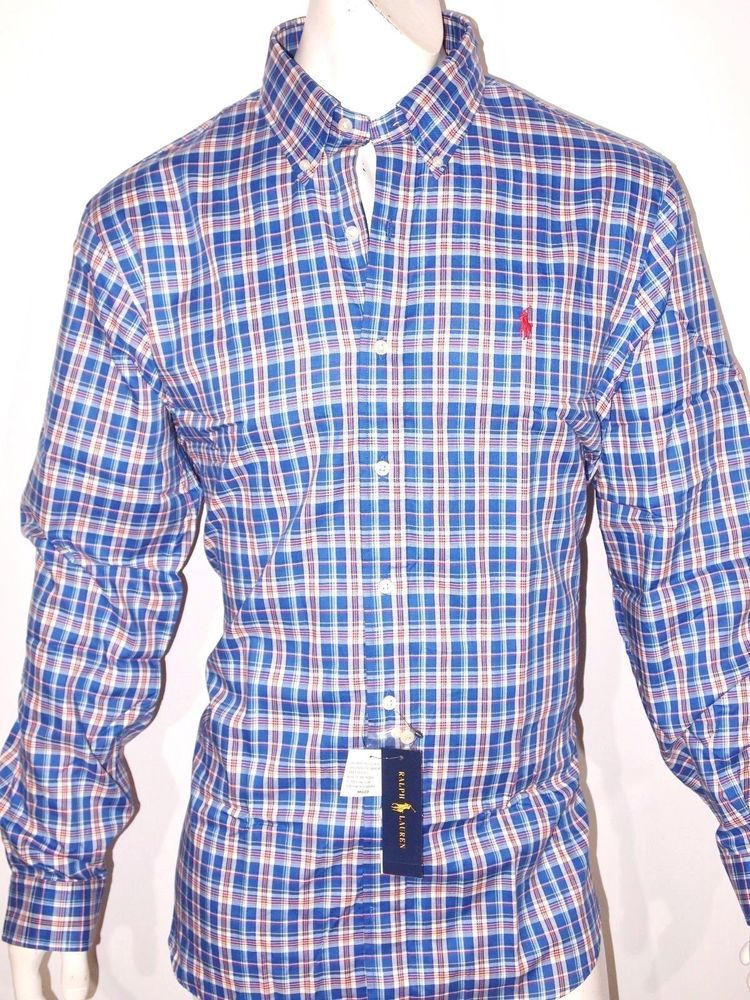 Polo Ralph Lauren plaid men s long sleeve shirt on sale NEW 609693bfd90