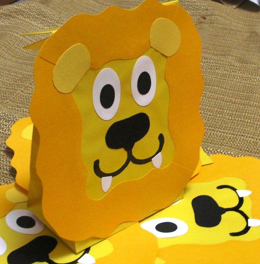 Lion Treat Sacks Safari Jungle Zoo Theme Birthday Party Favor