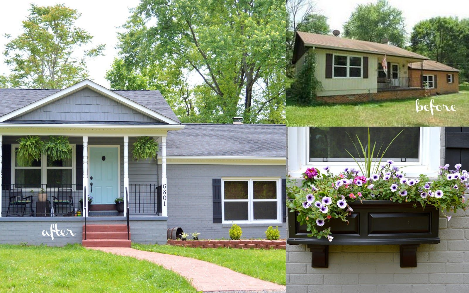 Newlywed Nesters: Exterior Update: The Reveal