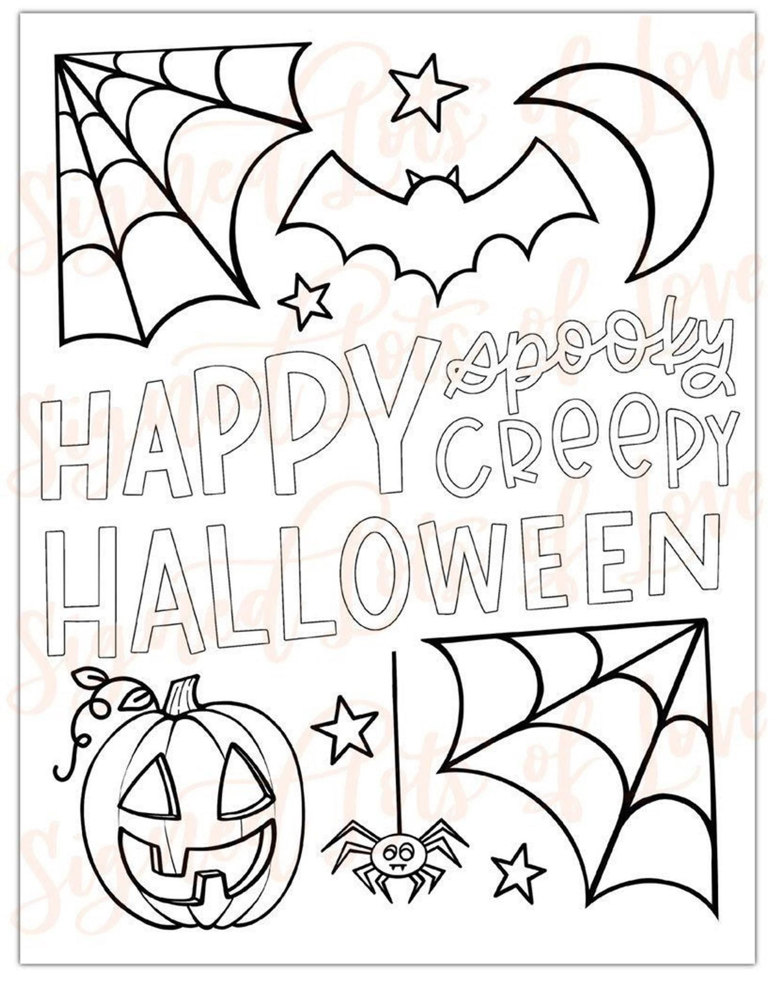 Pin On Halloween Coloring In 2021 Halloween Coloring Pages Printable Free Halloween Coloring Pages Halloween Coloring Book
