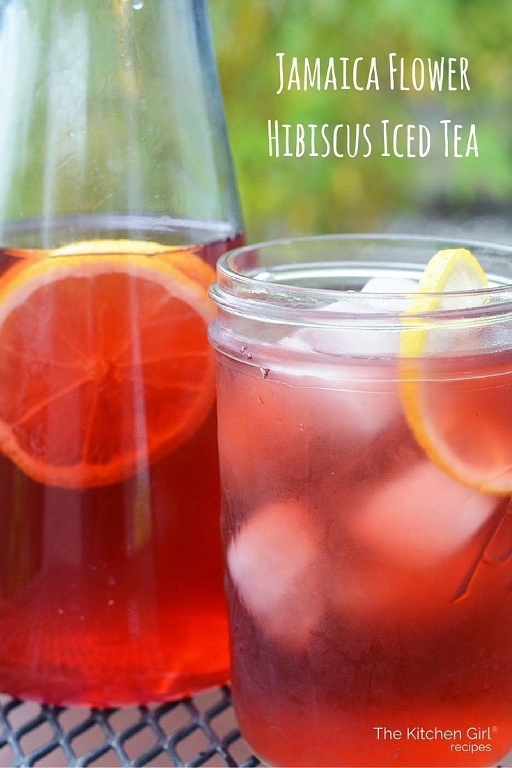 Jamaica Flower Iced Tea Dried Hibiscus Flowers Steeped And Chilled