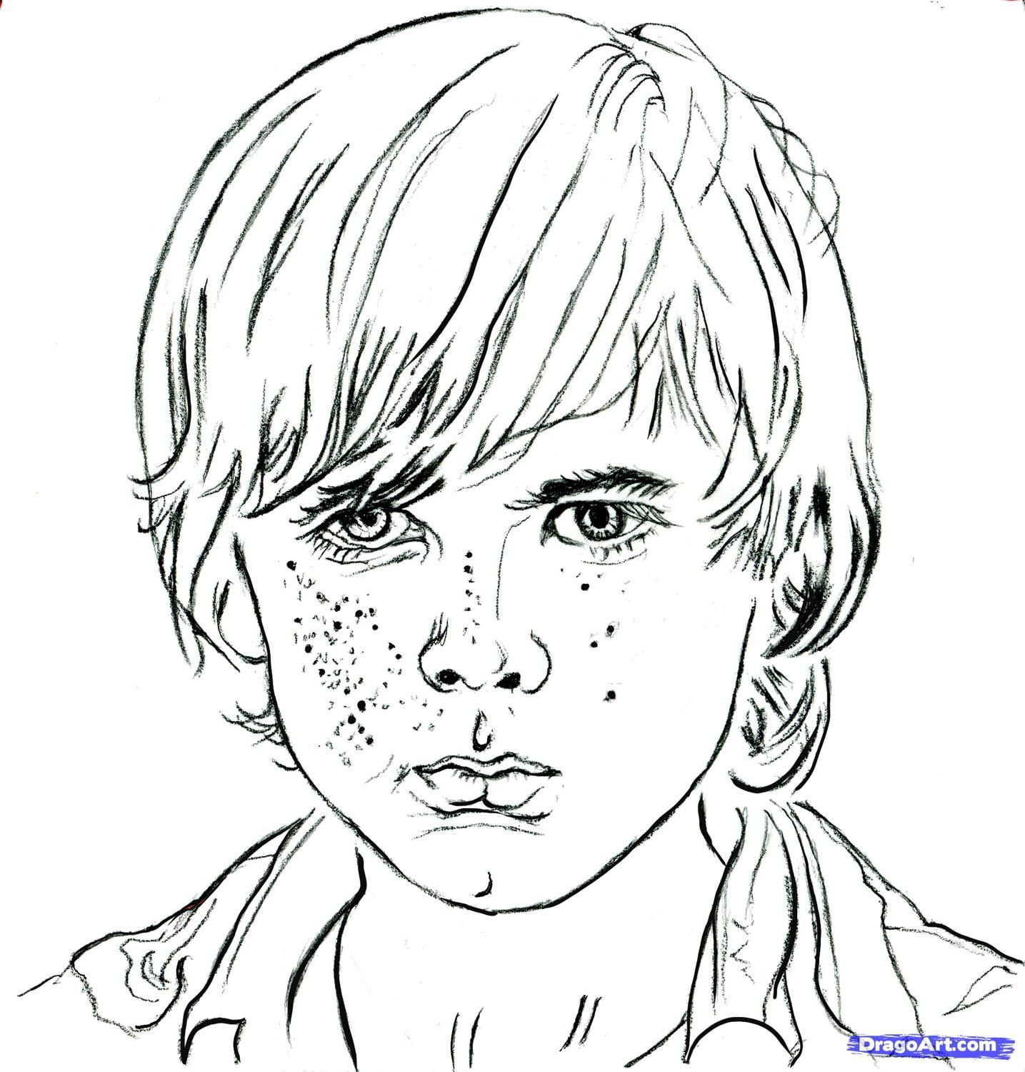 How To Draw Carl Carl From The Walking Dead Chandler