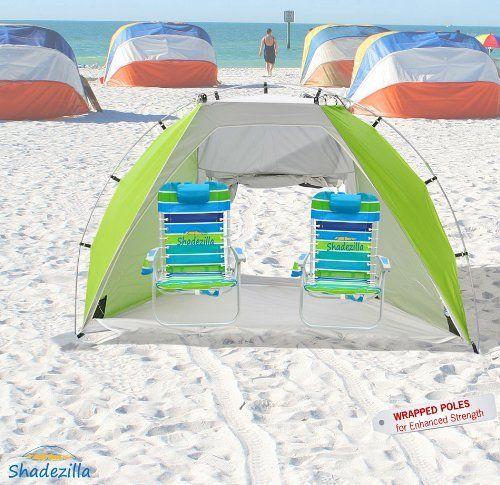 Deluxe Large Beach Cabana Upf100 W Double Door Mesh Window By Shadezilla