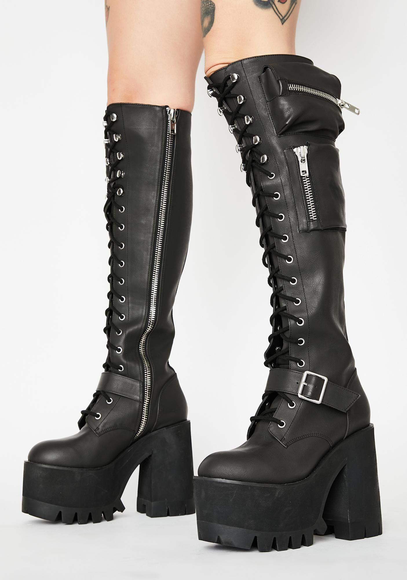 Boots, Combat boots, Platform boots