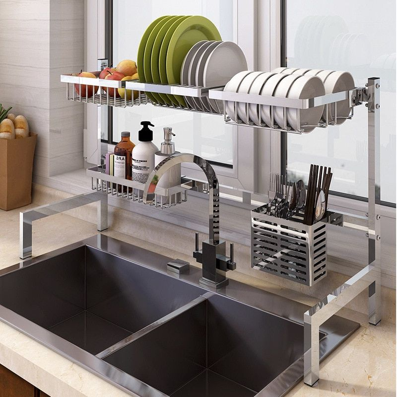Stainless Steel Dish Drainer Stainless Steel Kitchen Shelves