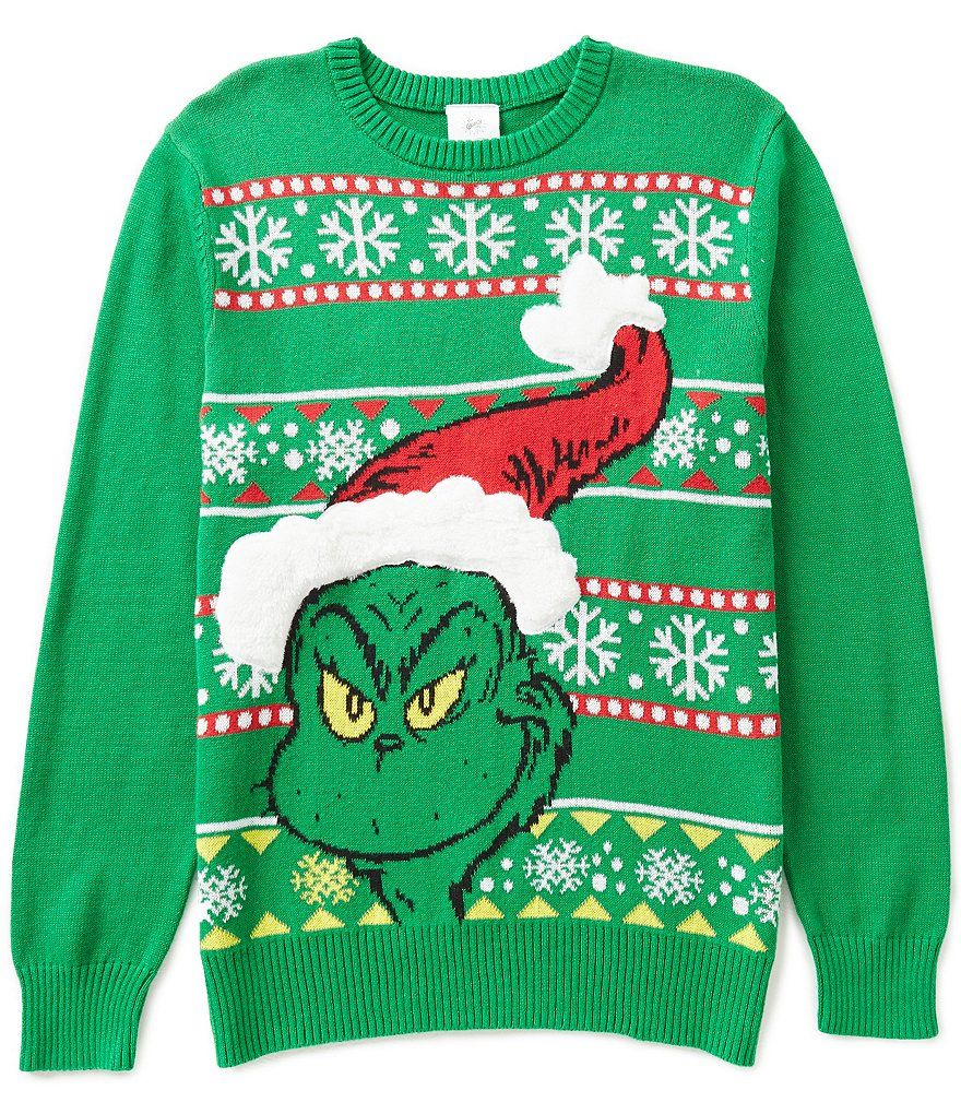 Grinch Christmas Sweater.The Grinch Grinchmas Christmas Sweater Most Wonderful Time
