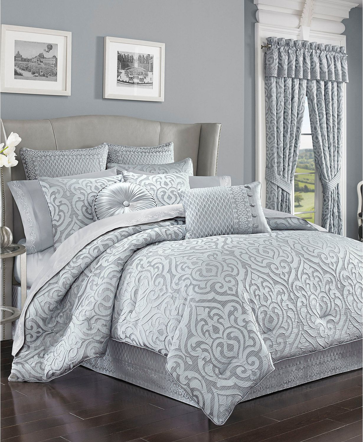J Queen New York Harrison Chrome Bedding Collection