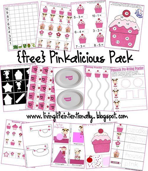 Free Worksheets: Pinkalicious Free Printable Pack | Toddler ...