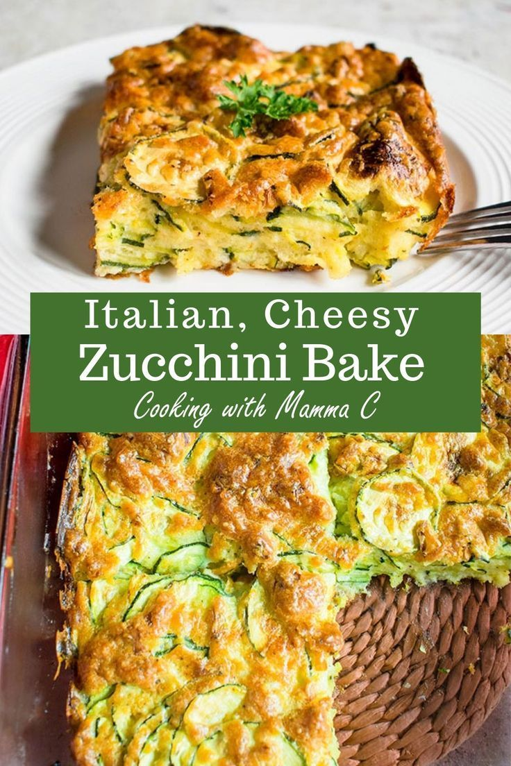 Photo of Cheesy Zucchini Bake – The best zucchini casserole with Romano and Parmesan! Mad…
