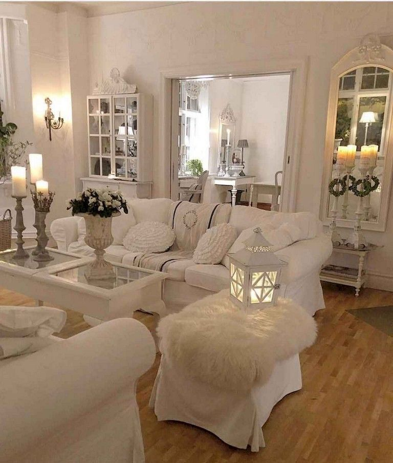 70 Cozy Shabby Chic Living Room Decor Ideas Livingroom Livingroomdecor Livingroomdecorideas Shabby Chic Living Room Chic Living Room Romantic Living Room