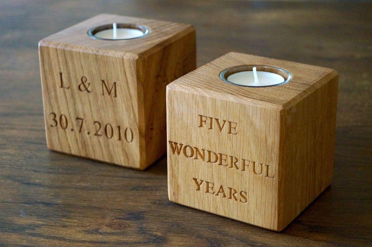 5th Wedding Anniversary Tea Light Holders Makemesomethingspecial Co Uk Traditional Anniversary Gifts 5th Wedding Anniversary Gift 5th Wedding Anniversary