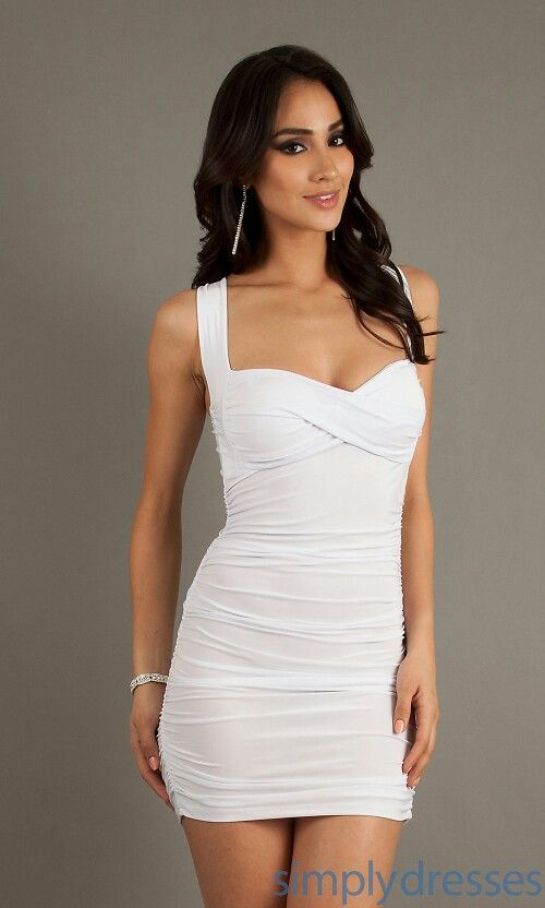 92c4868214c Sexy white dress | Clothes I wish I had in 2019 | Dresses, Short ...