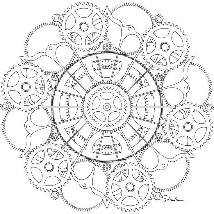 Mandala a imprimer pour les grands 40 mandala coloriage adulte via - Coloriage pour les grands ...