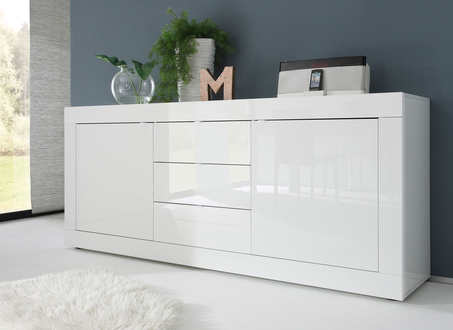 Tolle Sideboard Weiss Hochglanz Lack Sideboard Weiss Hochglanz Kommode Weiß Hochglanz Wohnzimmer Kommode