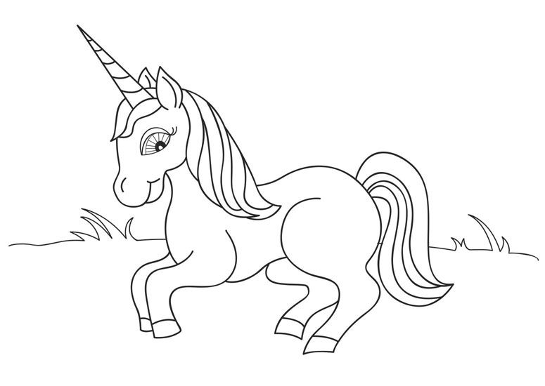 unicorn fairy tales coloring pages printable art sheets ...