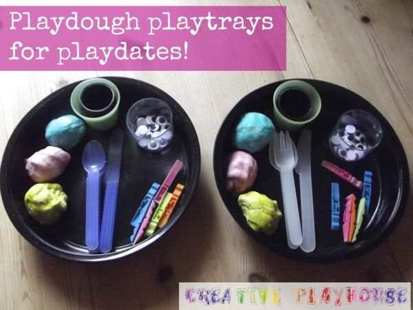 Playdough Playtrays for Playdates - smart.