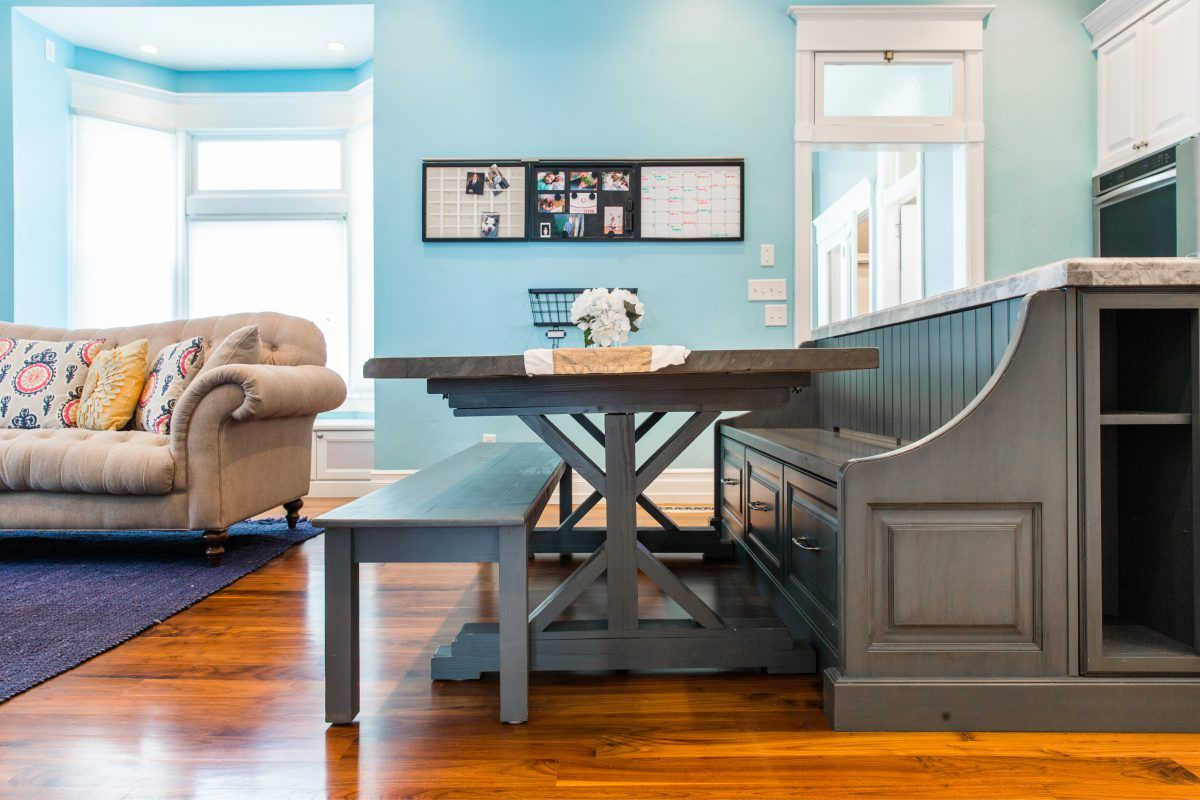 Victorian Kitchen Remodel Custom Table Build Bench Seating   Dream ...