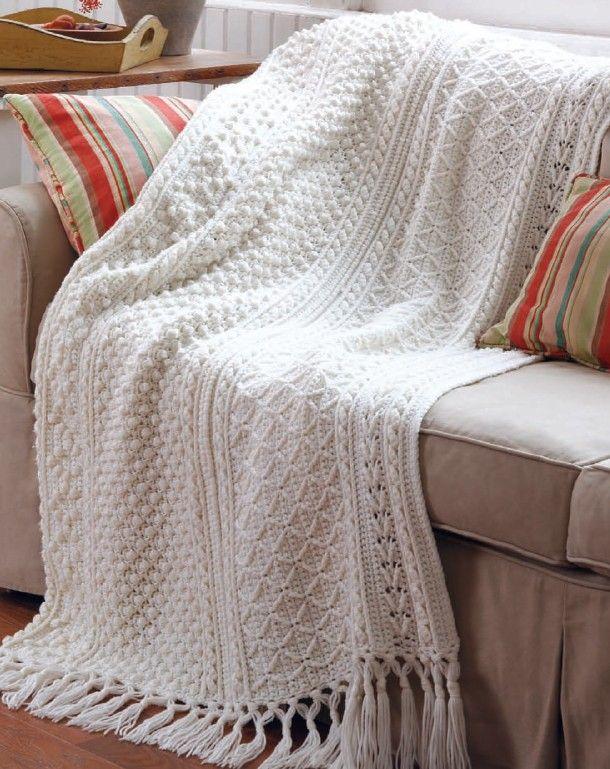 Aran Afghans To Crochet | Pinterest | Manta, Tejido y Cobija
