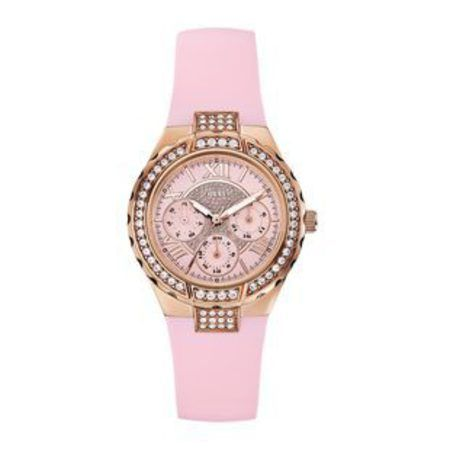 Guess Pink And Rose Gold-Tone Sparkling Hi-Energy Womens Watch