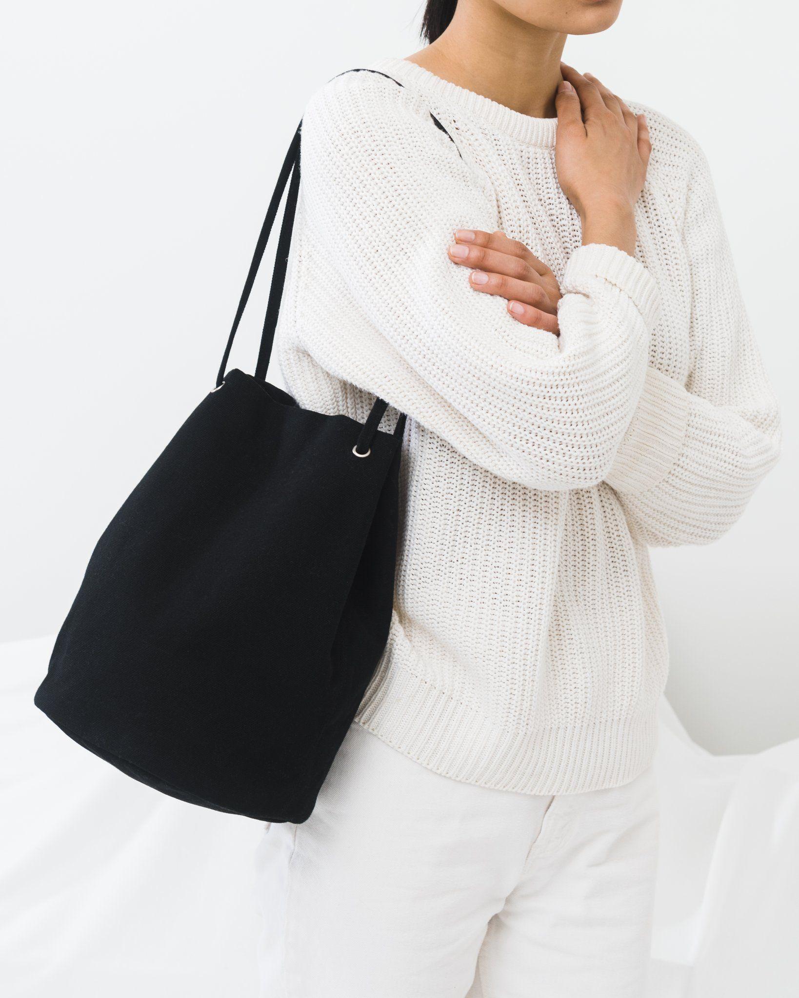 Canvas Bucket Bag Black Bucket bag, Fashion, Fashion