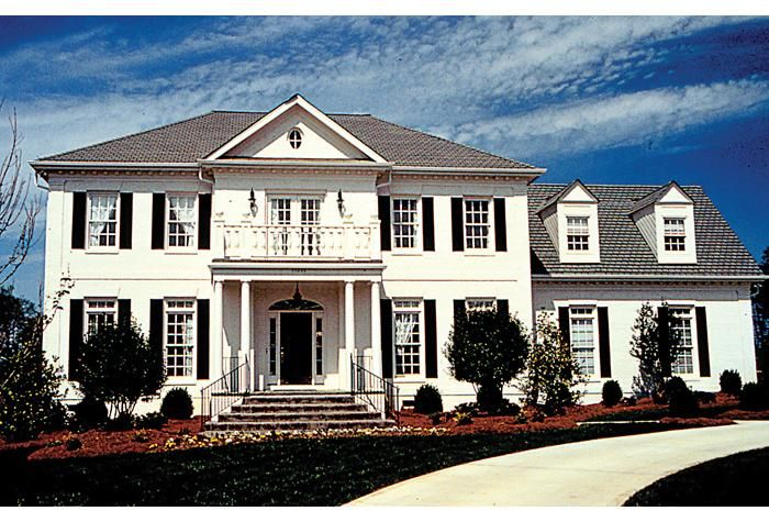 House Plan 3323 00301 Georgian Plan 3 298 Square Feet 4 Bedrooms 3 5 Bathrooms Federal Style House Colonial House Plans Colonial House Exteriors