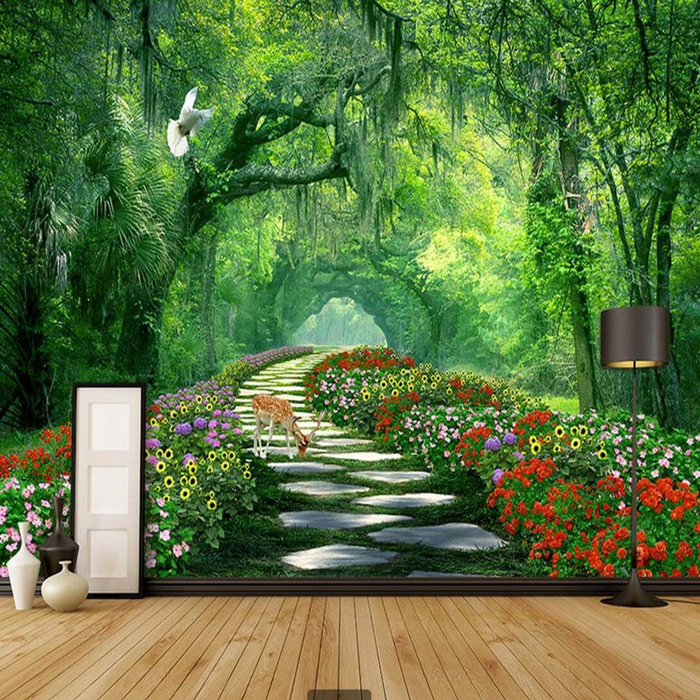 Cheap 3d Wallpaper Buy Quality Photo Wallpaper Directly From China Wallpaper For Walls Suppliers Nature Wallpaper Living Room Wall Wallpaper Mural Wallpaper