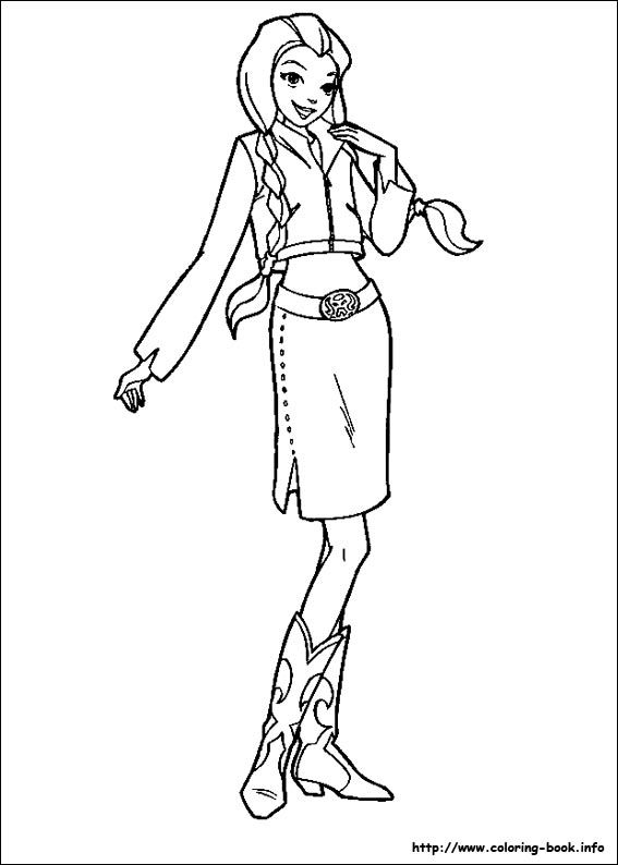 coloring pages totally spies - photo#42